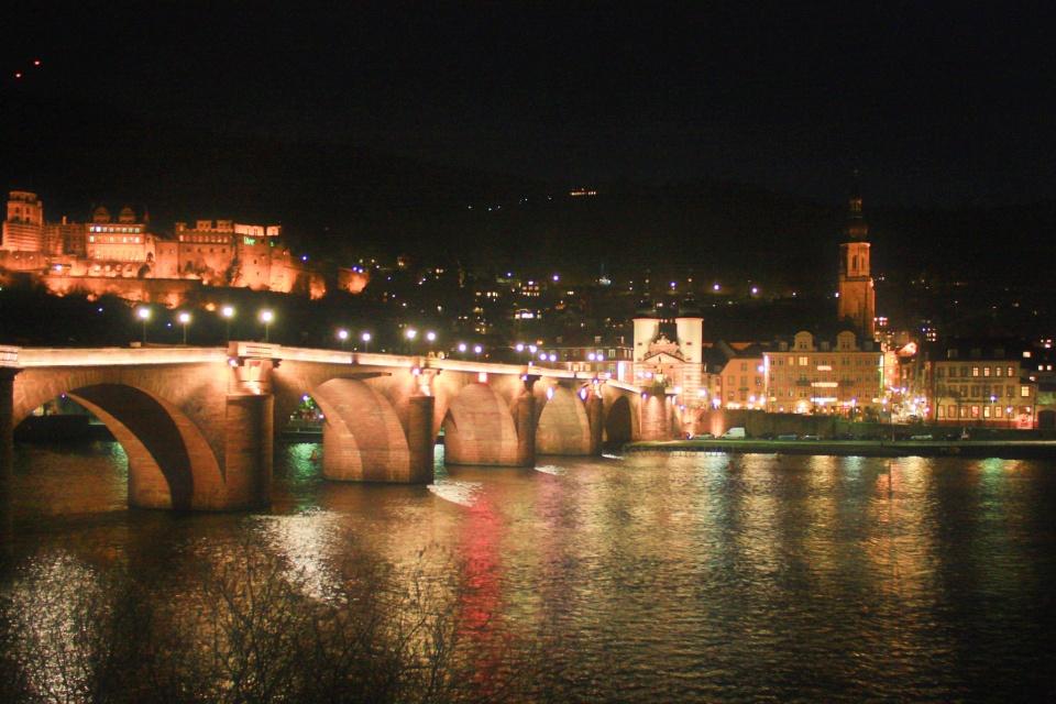 Schloss Heidelberg, Alte Bruecke, Neckar River, Heidelberger Altstadt, Altstadt, Heidelberg, Baden-Wuerttemberg, Germany, fotoeins.com, myRTW