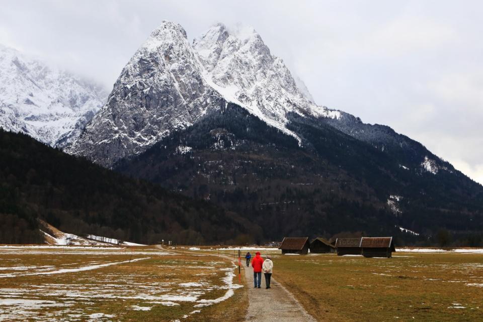 Waxenstein, Wetterstein, Hammelsbacher Fussweg, Grainau, Garmisch-Partenkirchen, Bayern, Bavaria, Germany, fotoeins.com