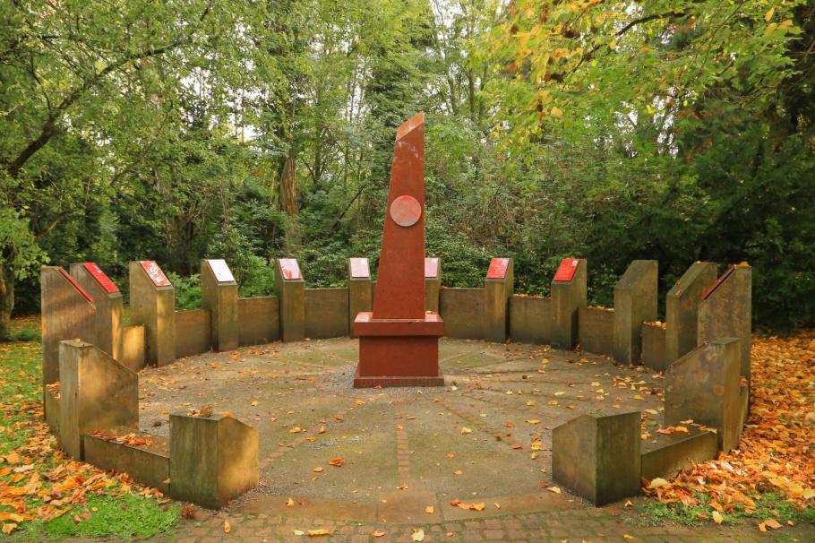 Nobel-Rondell, Nobel Rondel, Nobel Prize, Stadtfriedhof, Göttingen, Niedersachsen, Lower Saxony, Germany, fotoeins.com