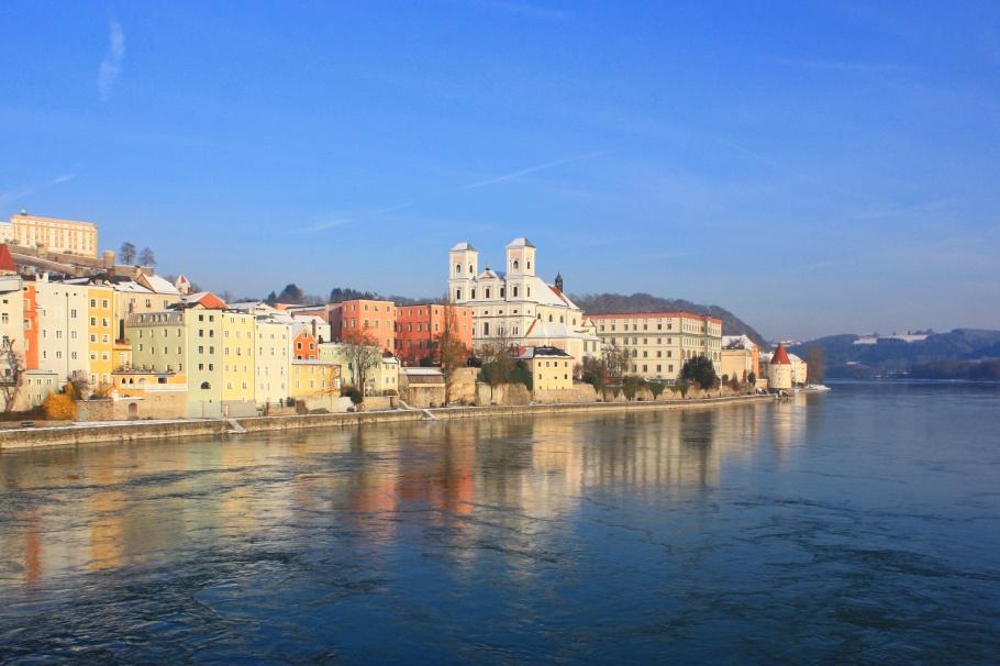 Altstadt, Inn river, Inn, Marienbrücke, Passau, Bayern, Bavaria, Germany, fotoeins.com