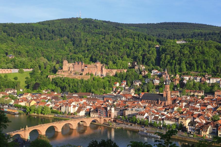 Heiligenberg, Philosphenweg, Königstuhl, Schloss Heidelberg, Alte Brücke, Heidelberg, Baden-Württemberg, Germany, fotoeins.com