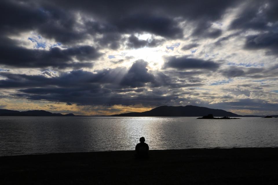 Larrabee State Park, Samish Bay, Puget Sound, Salish Sea, Pacific Northwest, PNW, Bellingham, Washington, USA, fotoeins.com