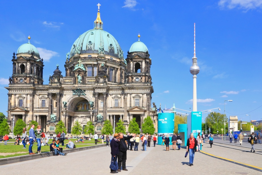 Lustgarten, Berliner Dom, Fernsehturm, ThatTowerAgain, Berlin, Germany, Deutschland, fotoeins.com