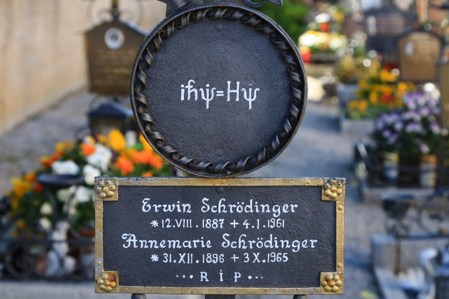 Erwin Schroedinger, Annemarie Schroedinger, Alpbach Cemetery, Heiliger Oswald, Pfarrkirche Alpbach, Alpbach, Tirol, Tyrol, Austria, fotoeins.com