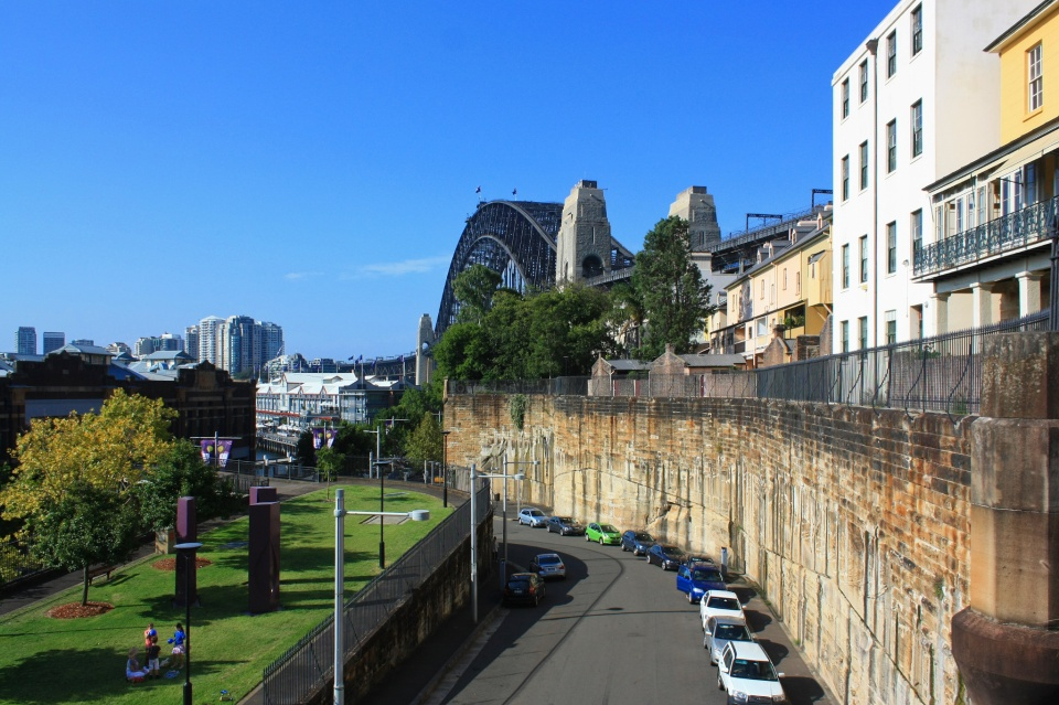 Pottinger Street Viaduct, Parbury Park, Cliff Top Walk, Sydney Harbour Bridge, The Rocks, Sydney, NSW, Australia, fotoeins.com
