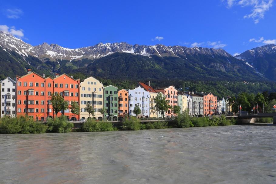 Innsbruck, Nordkette, Inn river, Tirol, Tyrol, Oesterreich, Austria, fotoeins.com