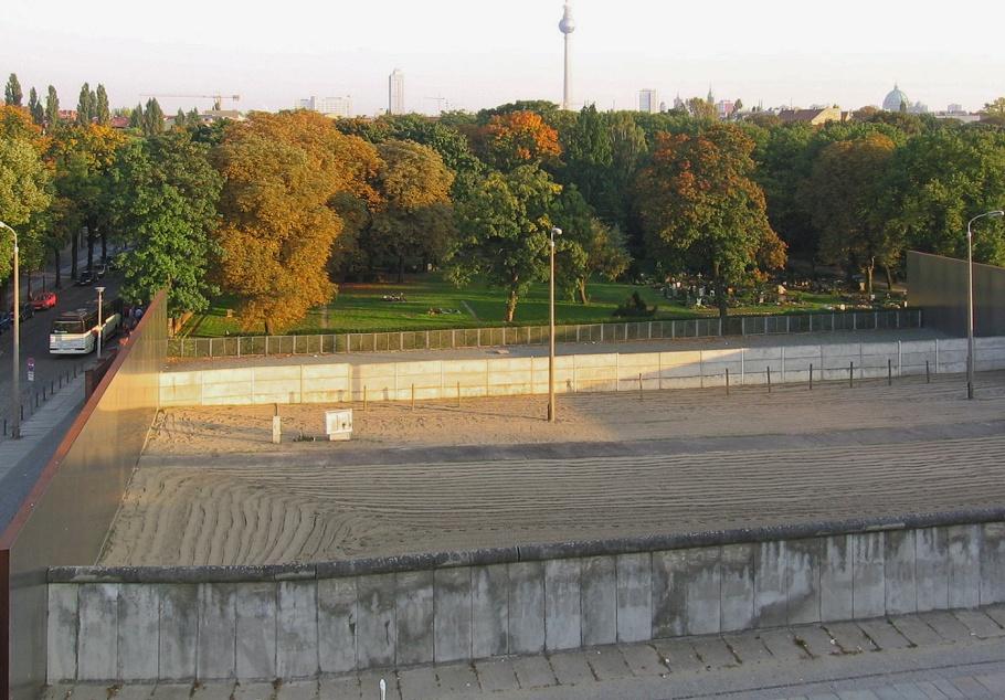 Todesstreife, death strip, Berlin Wall Memorial, Gedenkstätte Berliner Mauer, Fernsehturm, ThatTowerAgain, Berlin, Germany, fotoeins.com