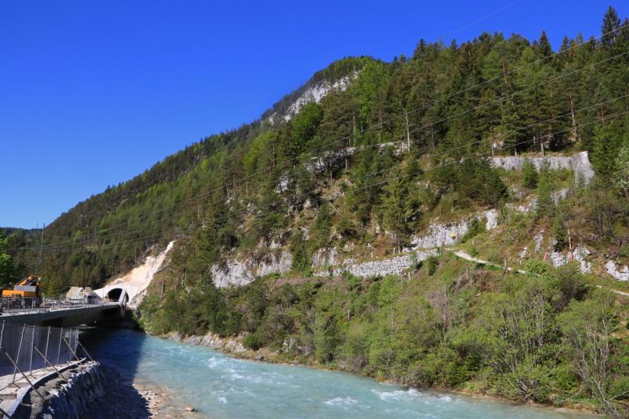 Scharnitz bypass, Porta Claudia, Isar river, Scharnitz pass, Scharnitz, Tirol, Tyrol, Austria, Oesterreich, fotoeins.com