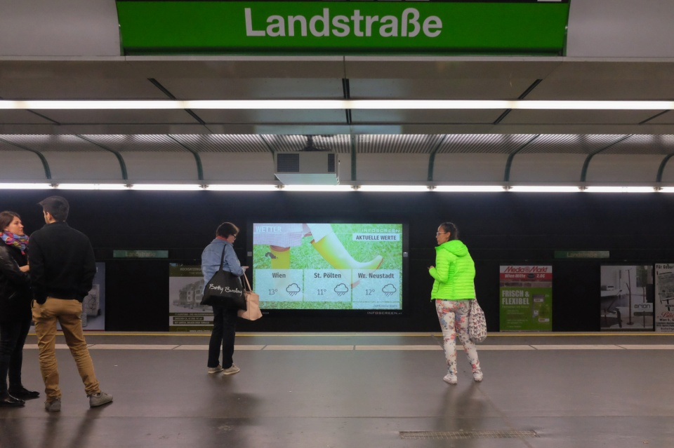 Bahnhof Landstrasse, U-Bahn, Wien, Wiener Linien, Vienna, Austria, fotoeins.com