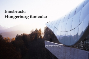 Hungerburgbahn Alpenzoo station, photo by Werner Hutmacher for ZHA.