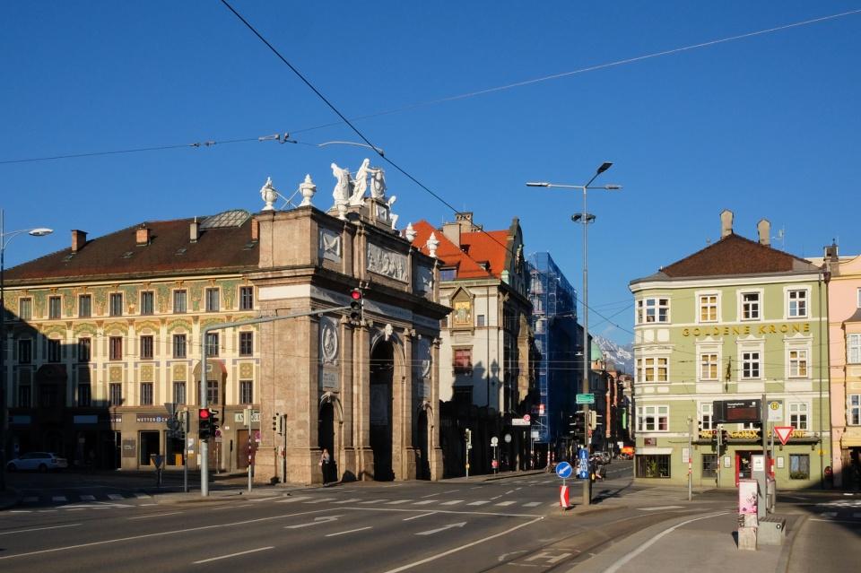 Triumphpforte, Triumph Arch, Salurner Strasse, Innsbruck, Tirol, Tyrol, Austria, Oesterreich, fotoeins.com