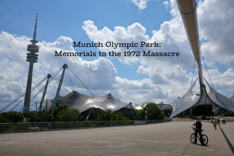 Hanns-Braun-Brücke, Olympiapark, Olympiaturm, Muenchen, Munich, Bavaria, Bayern, Germany, fotoeins.com