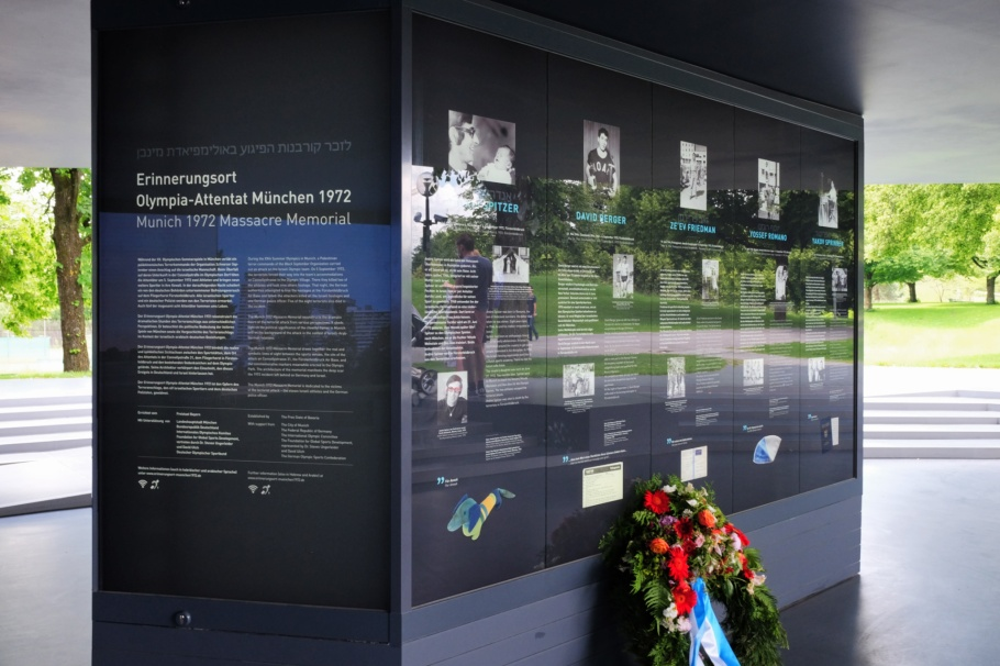 Erinnerungsort Olympia-Attentat München 1972, Muenchen Olympiapark, Munich Olympic Park, Munich, Muenchen, 1972 Summer Olympics, Bavaria, Bayern, Germany, fotoeins.com