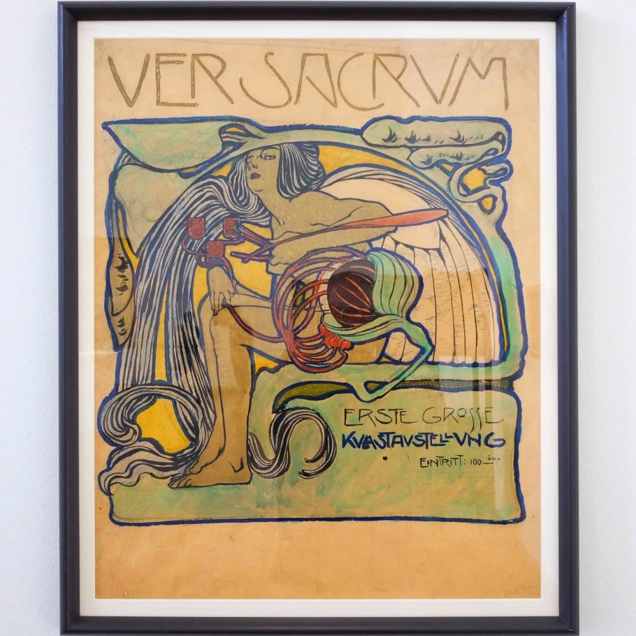 Ver Sacrum, poster, Koloman Moser, Vienna Modernism, Wien Moderne, Wien Museum Karlsplatz, Vienna, Wien, Oesterreich, Austria, fotoeins.com