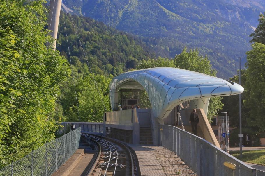 Hungerburgbahn, Löwenhaus station, Zaha Hadid, Innsbruck, Tirol, Tyrol, Oesterreich, Austria, fotoeins.com