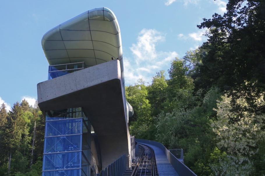 Hungerburgbahn, Alpenzoo station, Zaha Hadid, Innsbruck, Tirol, Tyrol, Oesterreich, Austria, fotoeins.com