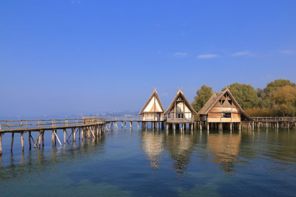 Pfahlbaumuseum, Pile Dwellings, Bodensee, Lake Constance, Unteruhldingen, Konstanz, Baden-Württemberg, Germany, UNESCO, World Heritage, fotoeins.com
