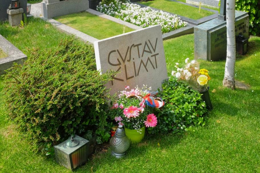Gustav Klimt, Friedhof Hietzing, Friedhoefe Wien, Vienna, Wien, Oesterreich, Austria, fotoeins.com