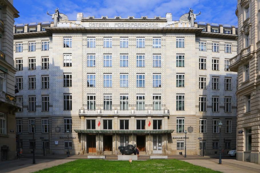 Österreichische Postsparkasse, Austria Post Savings Bank, Otto Wagner, Vienna Modernism, Wiener Moderne, Wien, Vienna, Oesterrich, Austria, fotoeins.com