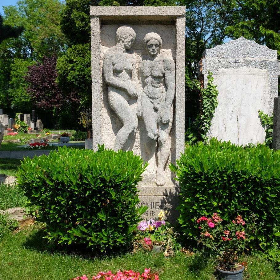 Egon Schiele, Edith Schiele, Friedhof Ober St. Veit, Vienna, Wien, Oesterreich, Austria, fotoeins.com