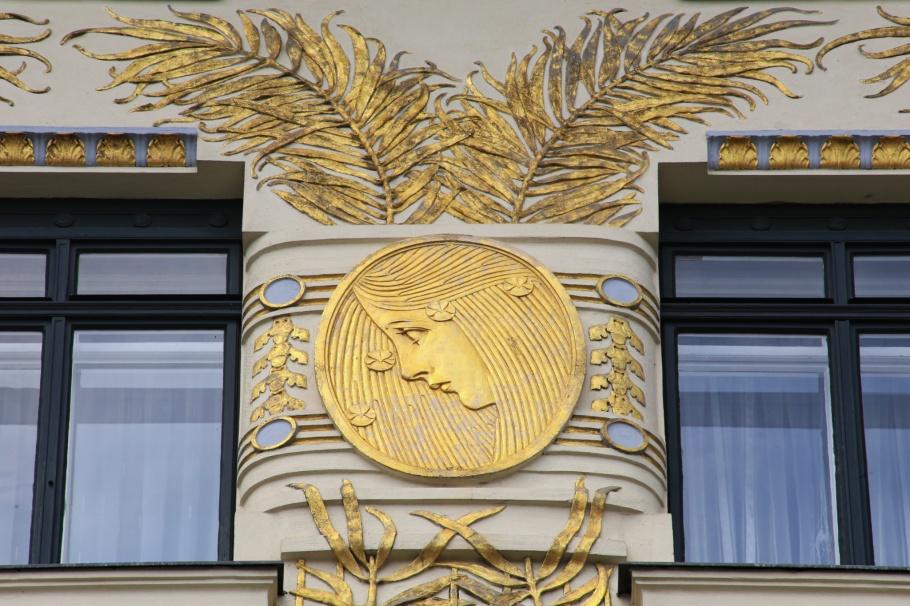 Musenhaus, Koloman Moser, Wienzeilehaeuser, Linke Wienzeile 38, Wiener Moderne, Vienna Modernism, Wien, Vienna, Oesterreich, Austria, fotoeins.com
