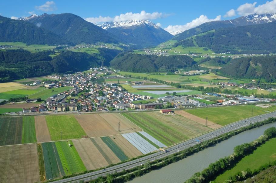 S-Bahn Tyrol, Inn river, Kernaten in Tirol,  Sellrain river, Sellraintal, Sellrain valley, Tirol, Tyrol, Austria, Oesterreich, fotoeins.com