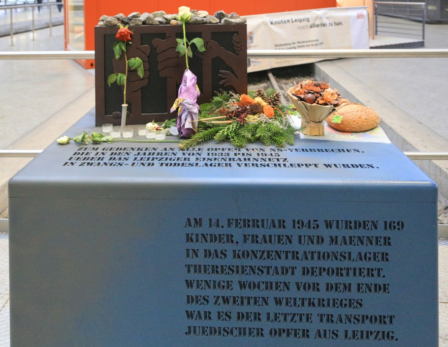 Holocaustdenkmal, Leipzig Hauptbahnhof, Leipzig, Sachsen, Saxony, Germany, fotoeins.com