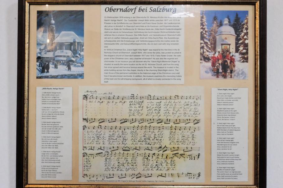 Silent Night, Stille Nacht, Stille Nacht Kapelle, Stille Nacht Platz, Oberndorf bei Salzburg, Oesterreich, Austria, fotoeins.com