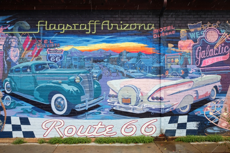 Mother Myth of Route 66, Mural Mice, mural, US route 66, US-66, Mother Road, Flagstaff, AZ, fotoeins.com