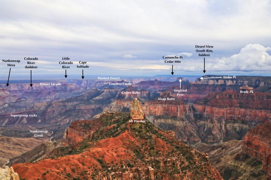 Point Imperial, North Rim, Colorado River, Little Colorado River, Painted Desert, Grand Canyon, Grand Canyon National Park, AZ, USA, fotoeins.com