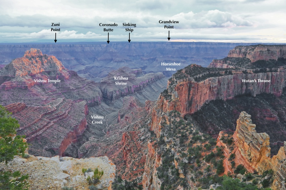 Cape Royal, North Rim, Colorado River, Little Colorado River, Painted Desert, Grand Canyon, Grand Canyon National Park, AZ, USA, fotoeins.com