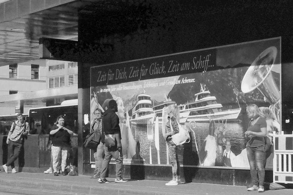 Innsbruck Hauptbahnhof, Innsbruck, Tirol, Tyrol, Austria, Oesterreich, fotoeins.com, black and white, monochrome