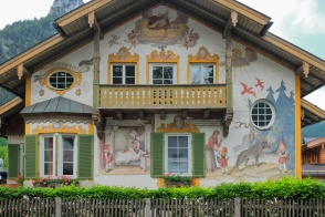 Rotkäppchen-Haus, Lüftlmalerei, Oberammergau, Oberbayern, Upper Bavaria, Bayern, Bavaria, Germany, fotoeins.com