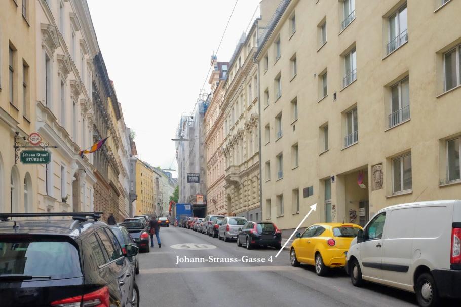 Johann Strauss II, Johann-Strauss-Gasse 4, Wieden, Vienna, Wien, Oesterreich, Austria, fotoeins.com