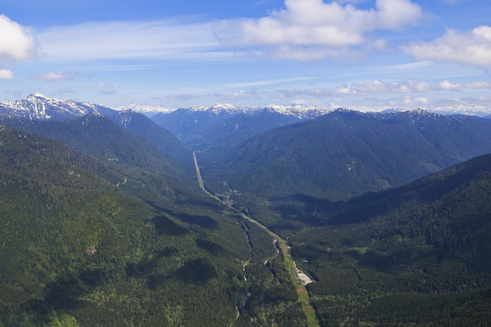 Capilano River, Capilano watershed, North Vancouver, BC, Canada, Helijet, West Coast Spectacular tour, fotoeins.com