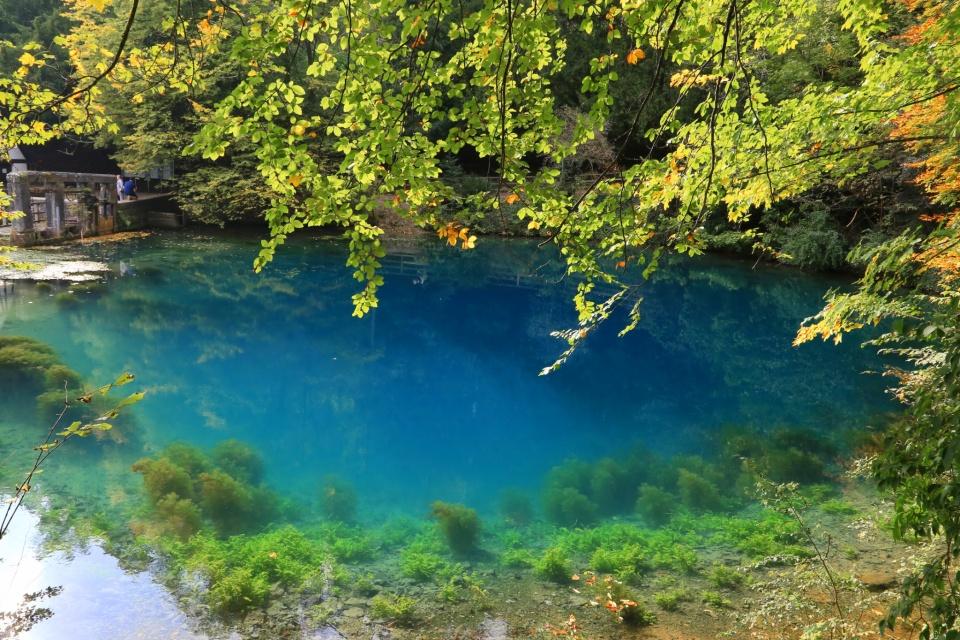 Blautopf, Blaubeuren, Blau river, Ulm, Baden-Württemberg, Deutschland, Germany, fotoeins.com