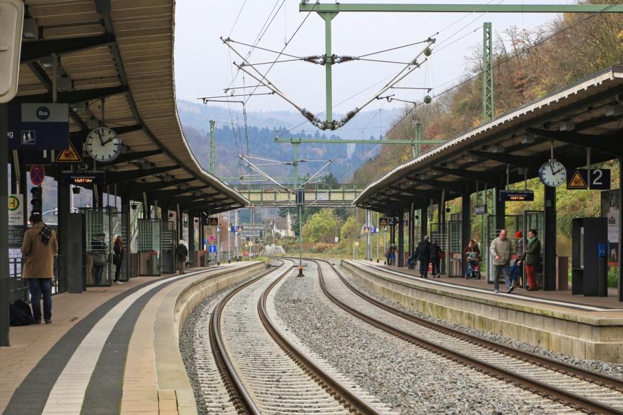S-Bf HD-Altstadt, S-Bahn Bahnhof, Heidelberg-Altstadt, Karlstor, Valerieweg, Königstuhl, Heidelberg, Baden-Württemberg, Germany, Deutschland, fotoeins.com