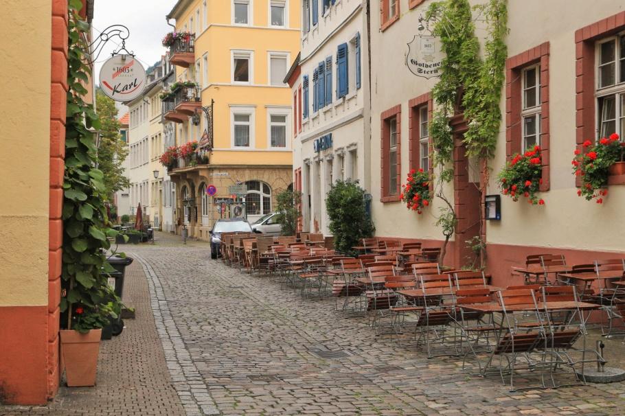 Lauerstrasse, Heidelberger Altstadt, Altstadt, Heidelberg, Baden-Wuerttemberg, Germany, fotoeins.com