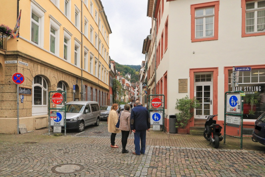Lauerstrasse, Dreikönigstrasse, Judentor, Heidelberger Altstadt, Altstadt, Heidelberg, Baden-Wuerttemberg, Germany, fotoeins.com