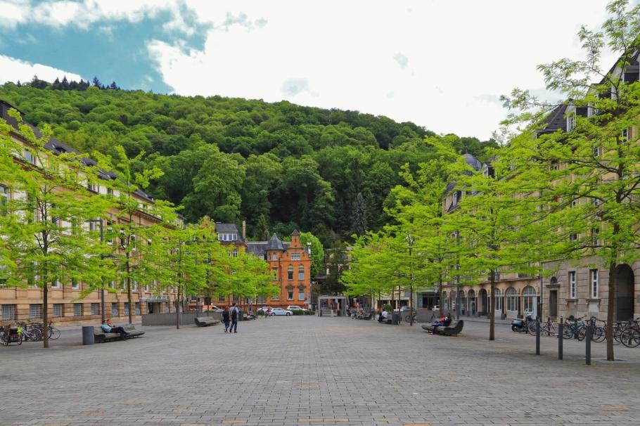 Friedrich-Ebert-Platz, Altstadt, Old Town, Alte Brücke, Heidelberger Altstadt, Heidelberg, Baden-Württemberg, Germany, Deutschland, fotoeins.com