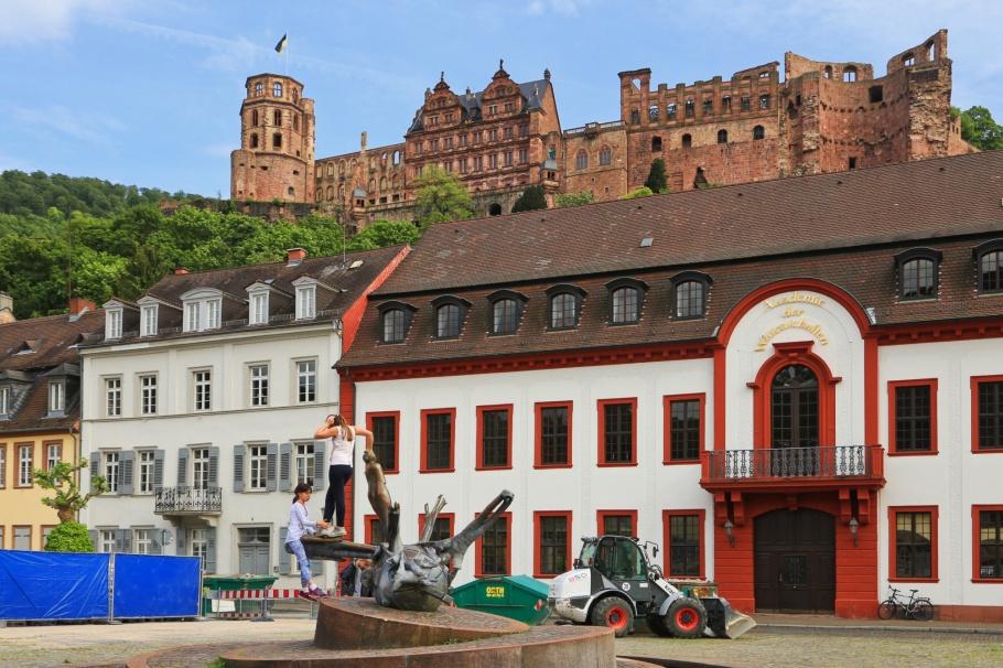 Karlsplatz, Altstadt, Old Town, Heidelberg, Baden-Württemberg, Germany, fotoeins.com