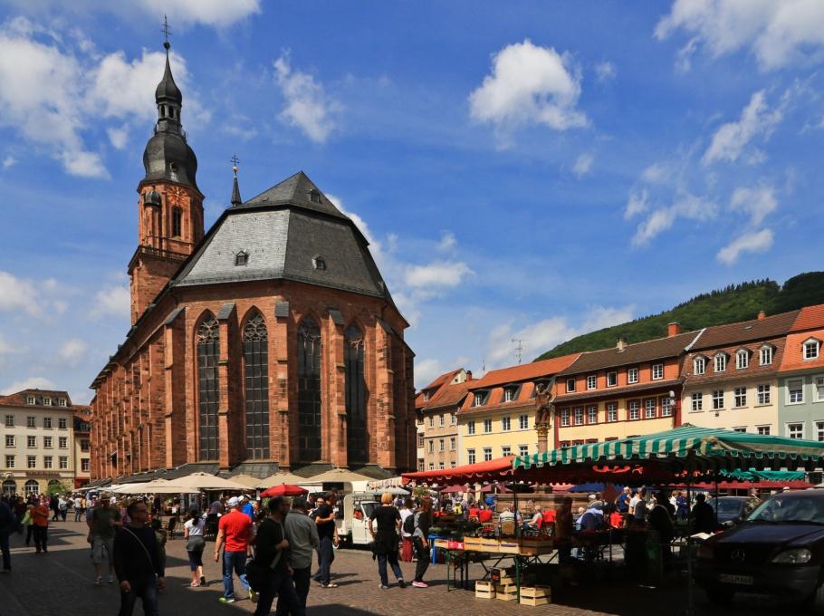 Heiliggeistkirche, Marktplatz, Altstadt, Old Town, Heidelberg, Baden-Württemberg, Germany, fotoeins.com