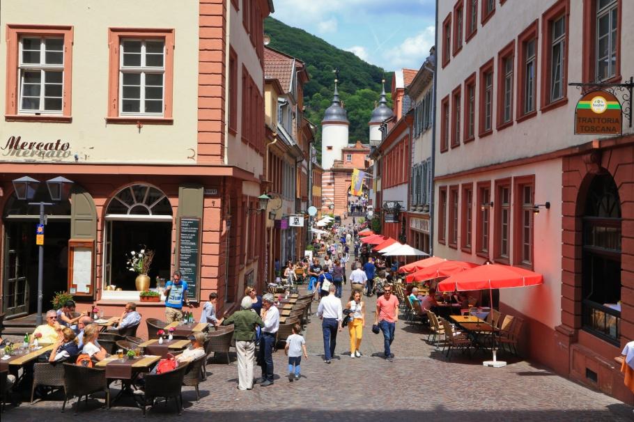 Steingasse, Altstadt, Old Town, Alte Brücke, Heidelberger Altstadt, Heidelberg, Baden-Württemberg, Germany, Deutschland, fotoeins.com