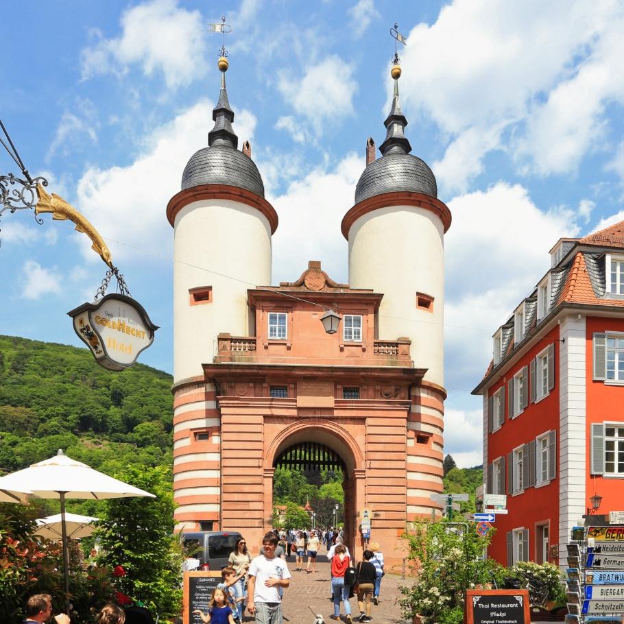 Steingasse, Alte Brücke, Altstadt, Old Town, Alte Brücke, Heidelberger Altstadt, Heidelberg, Baden-Württemberg, Germany, Deutschland, fotoeins.com