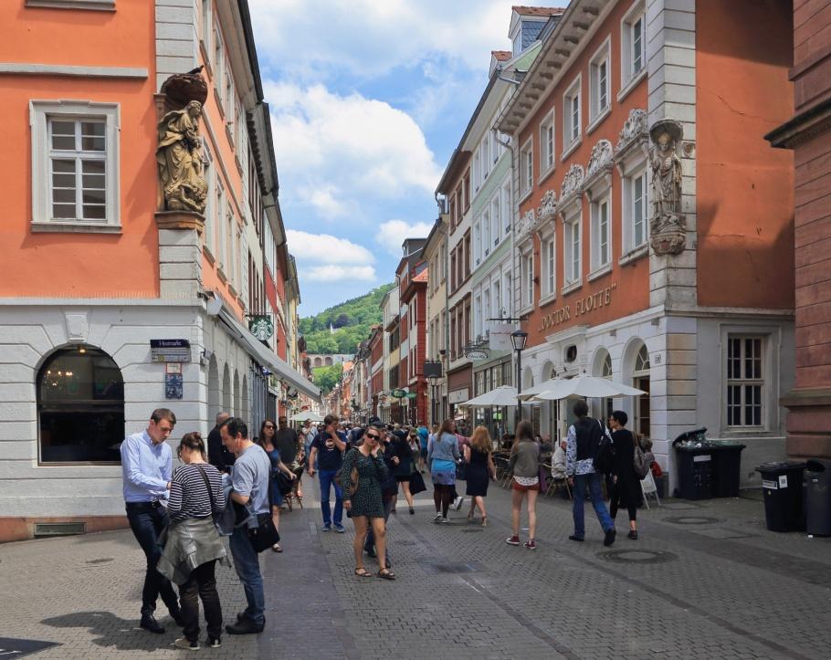 Hauptstrasse, Heumarkt, Universitätsplatz, Heidelberger Altstadt, Altstadt, Old Town, Heidelberg, Baden-Württemberg, Germany, fotoeins.com