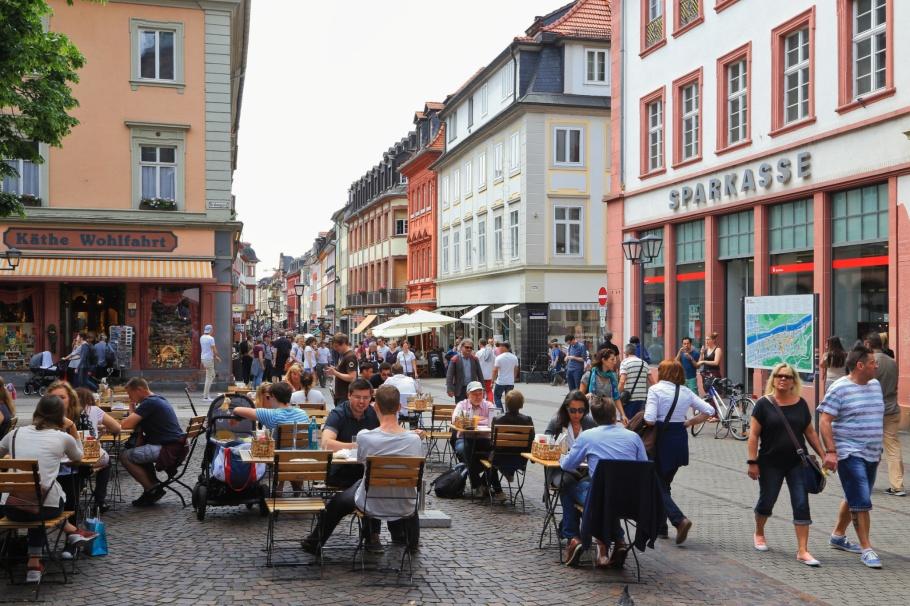 Hauptstrasse, Grabengasse, Universitätsplatz,  Altstadt, Old Town, Heidelberg, Baden-Württemberg, Germany, fotoeins.com