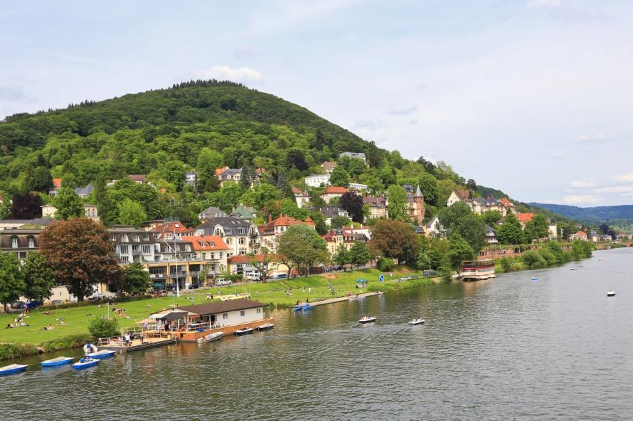 Heiligenberg, Theodor-Heuss-Brücke, Neckar, Neckar river, Heidelberg, Baden-Württemberg, Germany, Deutschland, fotoeins.com