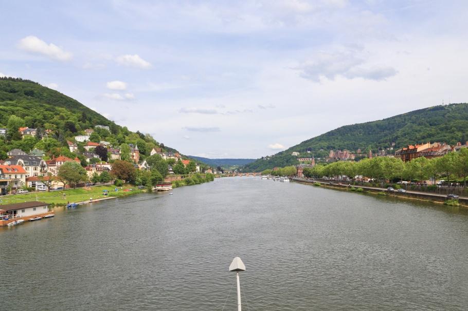 Theodor-Heuss-Brücke, Neckar, Neckar river, Heidelberg, Baden-Württemberg, Germany, Deutschland, fotoeins.com