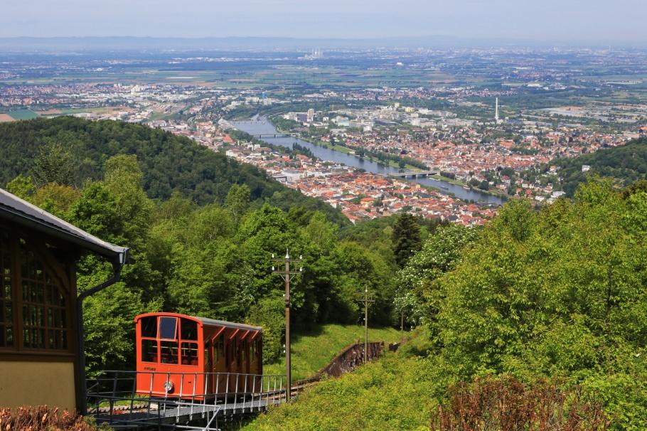 Bergbahn, Obere Bahn, Königstuhl, Heidelberg, Baden-Württemberg, Germany, Deutschland, fotoeins.com