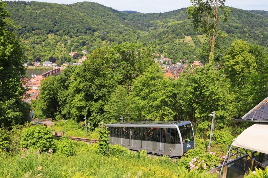 Bergbahn, Untere Bahn, Molkenkur, Heidelberg, Baden-Württemberg, Germany, Deutschland, fotoeins.com